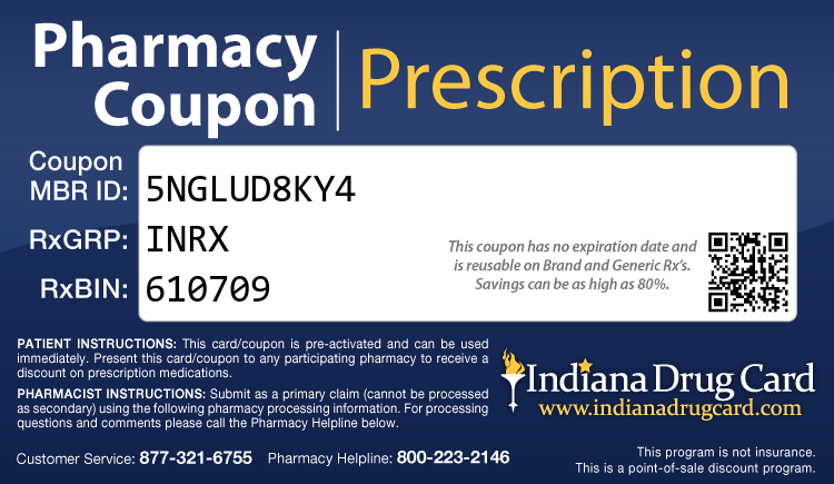 Indiana Drug Card - Free Prescription Drug Coupon Card